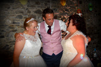 Two Brides with Best man