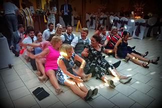 People having fun at wedding