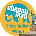 Chapati Man logo - food cart, Indian food