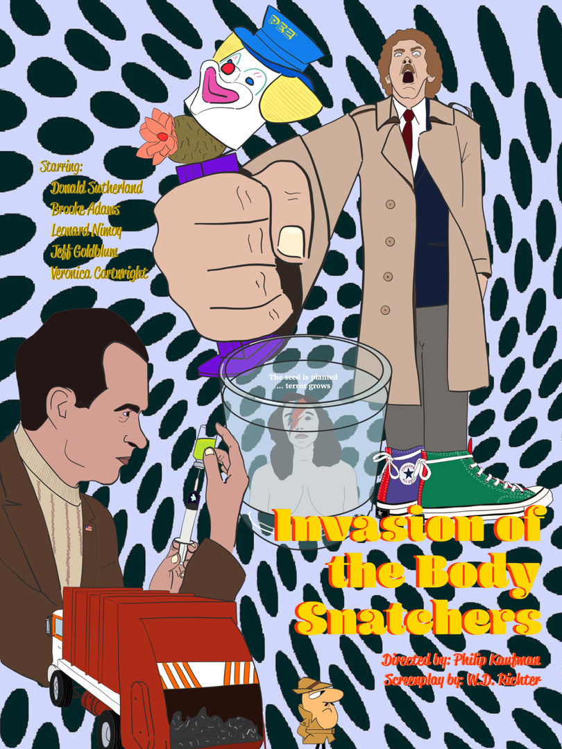 Invation Of The Body Snatchers Poster Remix