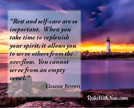Reiki With Nan Self-Care Quote