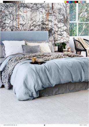 """Blissful Beds"" Aug 2017. Home Beautiful Magazine."