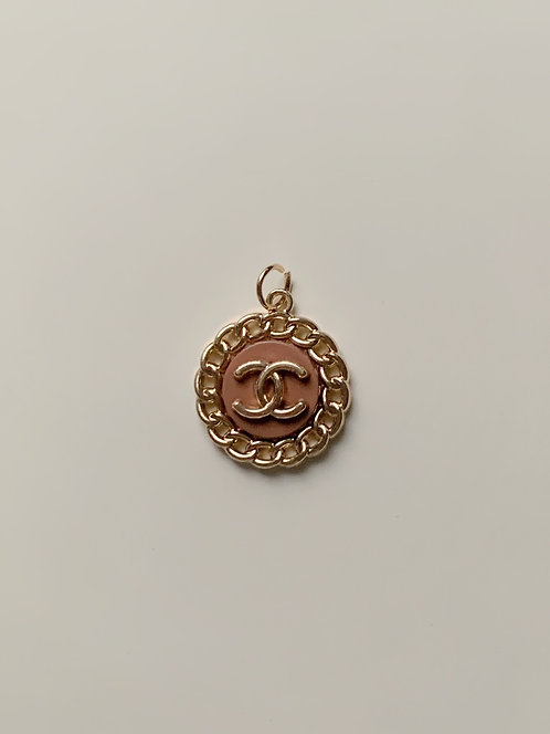 Nude/Brown Vintage Chanel Button
