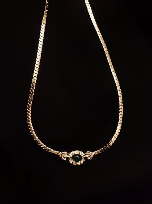 Empressa Green & Gold 1960s Vintage Necklace