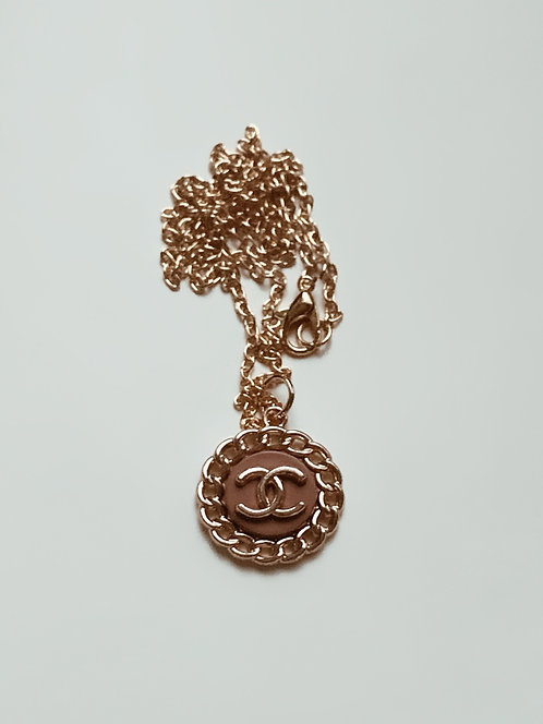 Nude/Brown Vintage Chanel Necklace *With Chain*