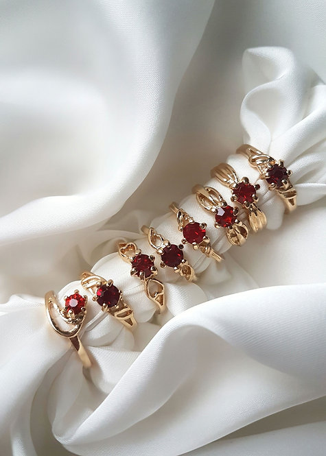 Red Stacking Ring (small-medium)