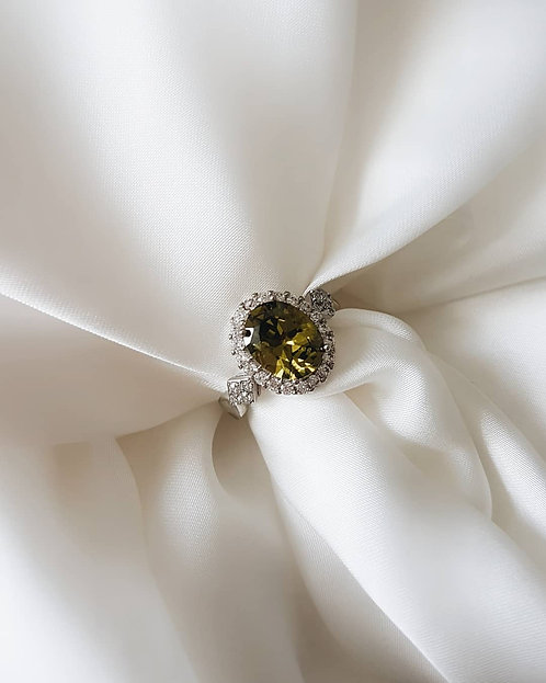 Olive Green Ring