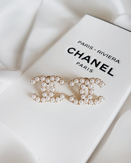 Pearl Chanel Riviera Earrings