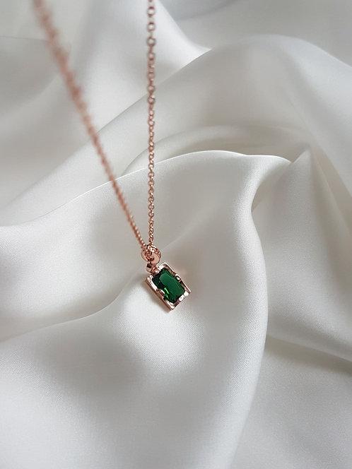Emerald Green Pendant 925 Sterling