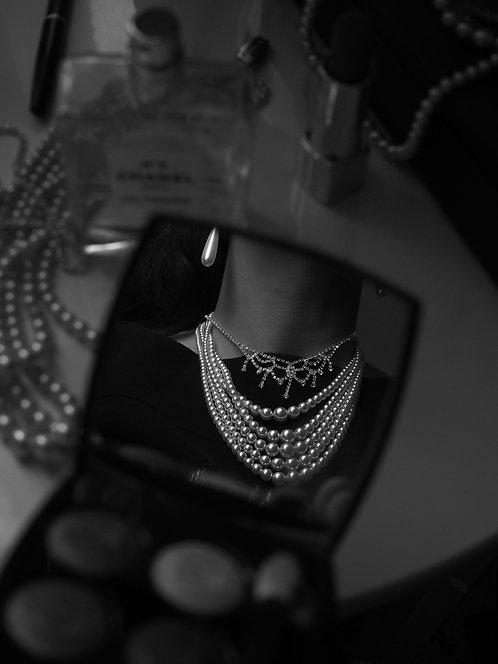 Roxanne 1950s Vintage 5 row of pearls