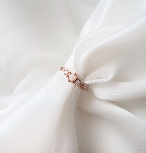 Opal 925 Rose Gold Plated Ring