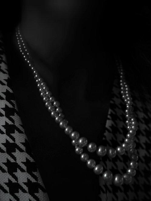 Birkin 1960s Double Pearl Necklace