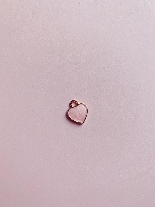 Vintage Pink heart charm