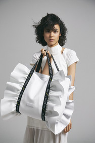 bonbon butterfly tote L leather
