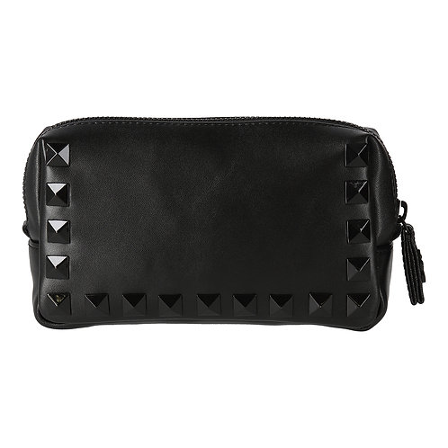 HELOYSE studs pouch eco leather / スタッズ ポーチ エコ レザー