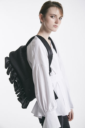 bonbonbutterfly backpack honeycomb solid all black / ボンボンバタフライ バックパック