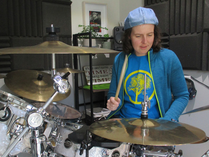 Practicing at my home studio