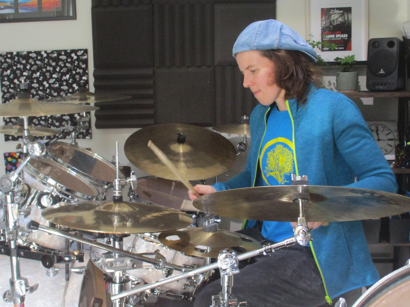 Playing in my home studio