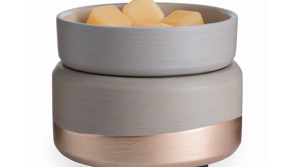 Soft Grey and Rose Gold Electric Candle and Wax Melt Warmer