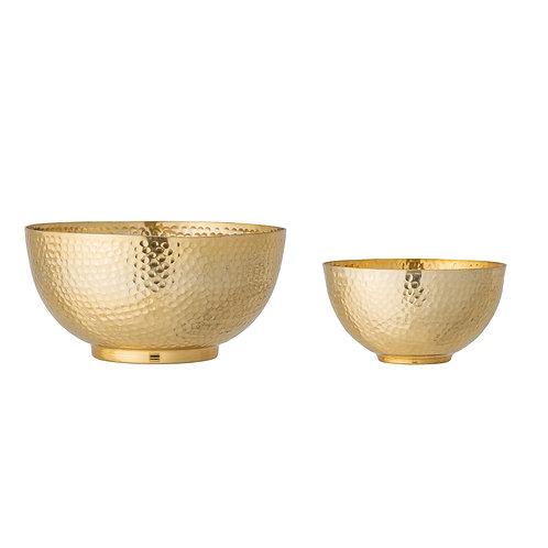 Camelia Bowl, Gold, Aluminum 2er Set