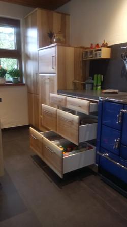 Küche, Kernesche massiv