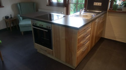 L-Kücheninsel, Kernesche massiv