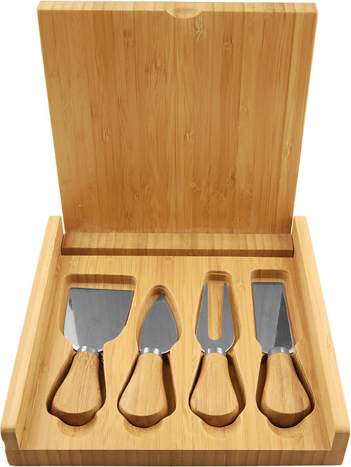 Bamboo Cheese Set with 4 Tools