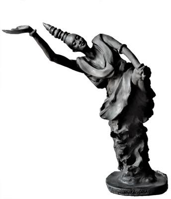 Hommage - Grès noir cuit 28x39x28