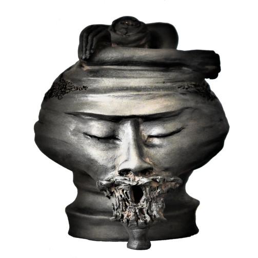 Deuil - Grès noir cuit 16x16x20