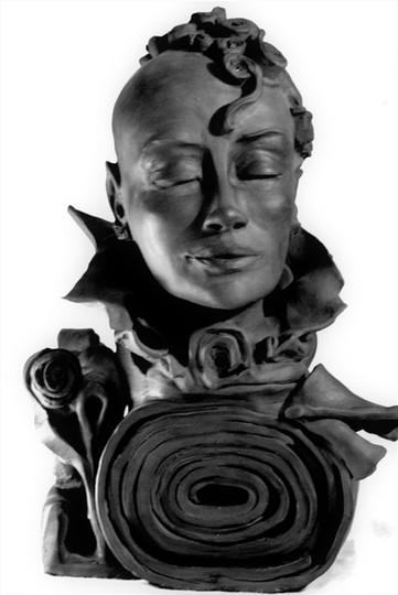 La Vie en rose - Grès cuit noir 17x33x19