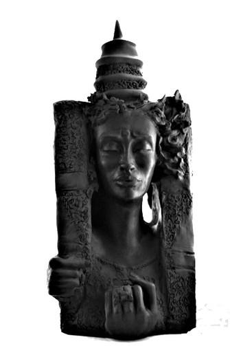 La Porte - Grès noir cuit 18x43x15