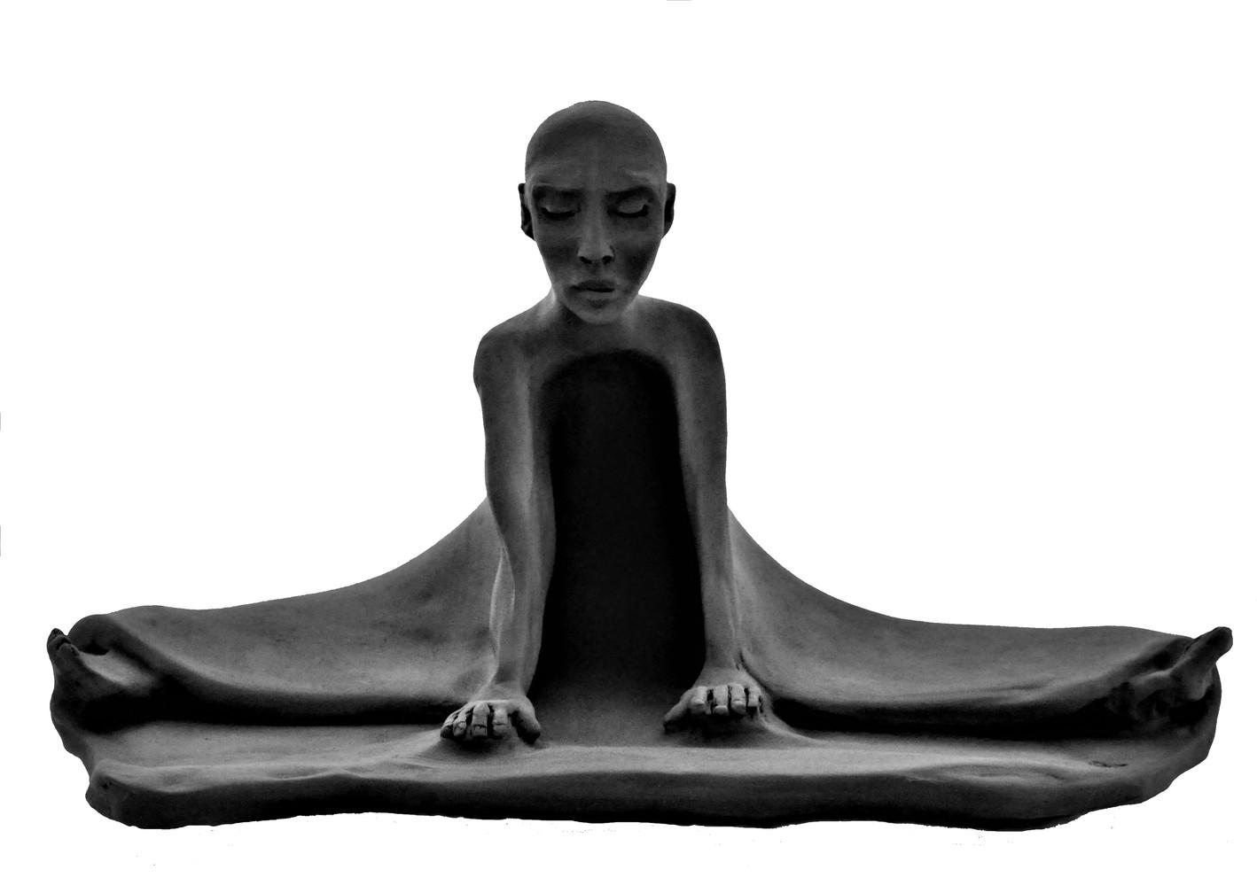 Conscience - Grès noir cuit 20x20x36