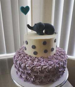 Baby shower cake! 💕 All Buttercream wit