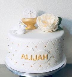 Baptism cake & 60pc dessert package 🤗 a