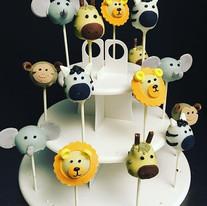 Animal Cake Pops 🐵🦁🐯🦒 #Safaritheme #