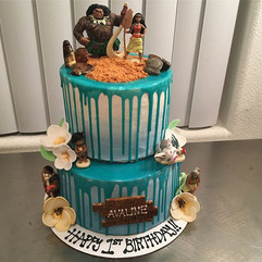 Moana Theme Cake 🌸🐚 #Moana #Cake #Mirr