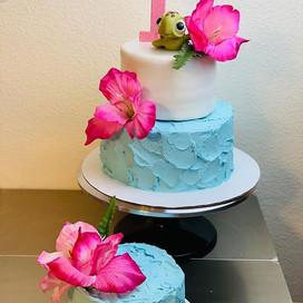 Moana theme cake & smash cake 💕.jpg