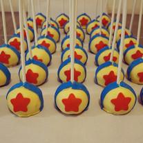 Toy story themed cake pops 😊💕 #cakepop