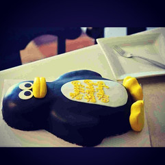 Sculpted Penguin Cake. Photograph by _ma