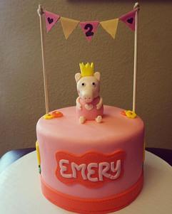 Peppa Pig Cake #PeppaPigCake #BirthdayCa