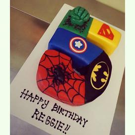 Superhero Cake ✊ 💥 #customcakes #creati