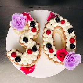 Elegant Number Cake #elegantsimplicity #
