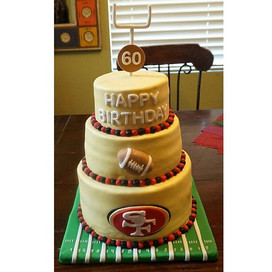 Happy Birthday, for the 49er fans! #cake