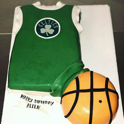 Celtics Jersey Cake! 🏀 #Celtics #Celtic