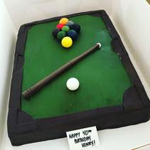 Pool Table Cake, 9 Ball Rack #PoolTableC