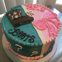 Boots or Bows_ #genderreveal #cakes #boo