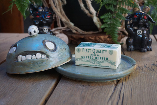 zombie butter dish