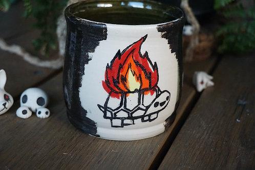 Flaming turtle Tea bowl