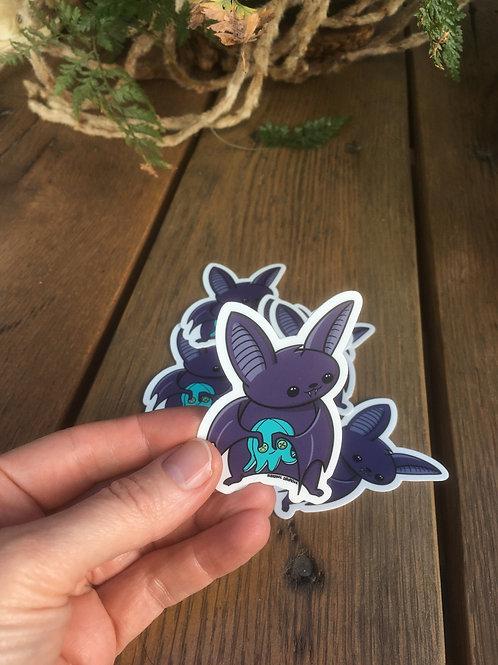 Cuddle Bat Sticker