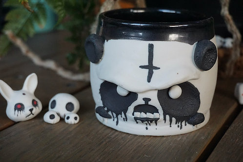 Angry Death Panda Tea Bowl
